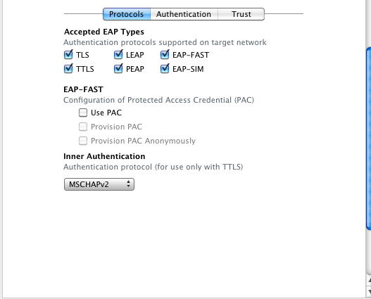 Configure Enterprise Wifi