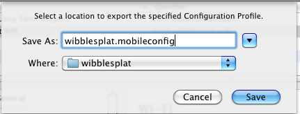 Export File as mobileconfig